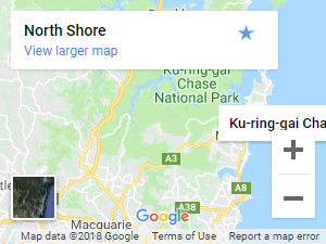 North-Shore-District-Sydney-NSW-Google-Map